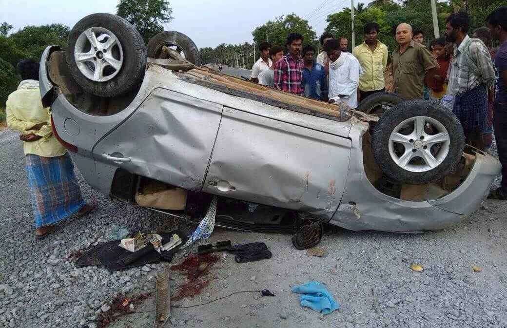 Car accident 1 dead 3 injured