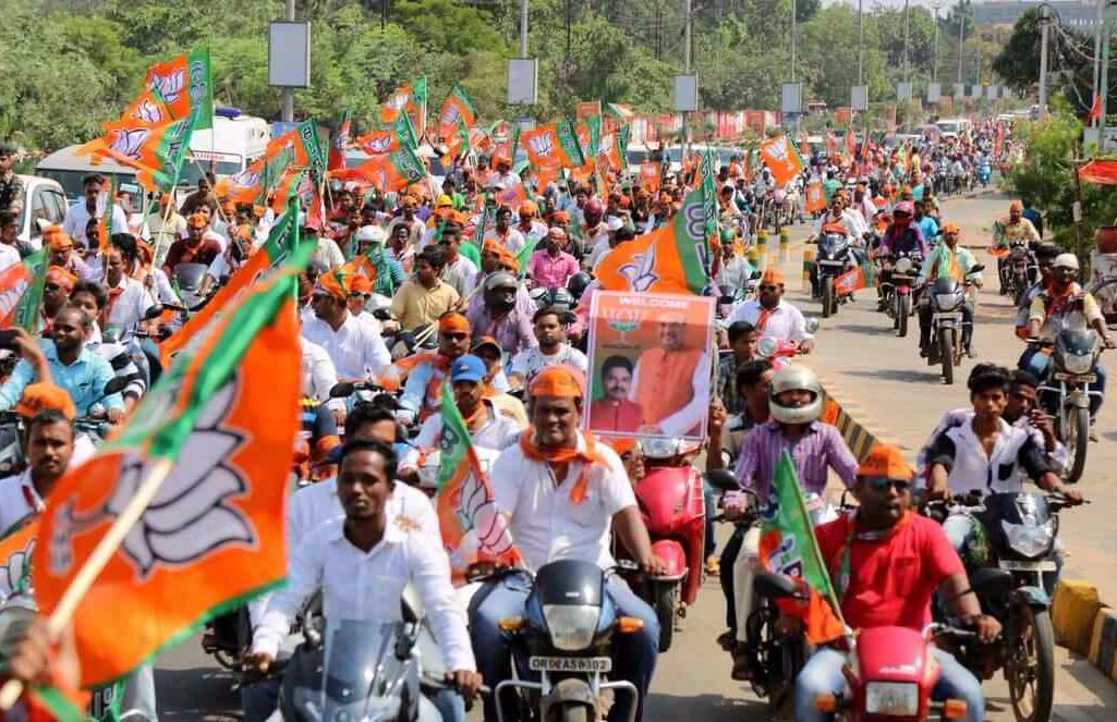 BJP rally and traffic Jam
