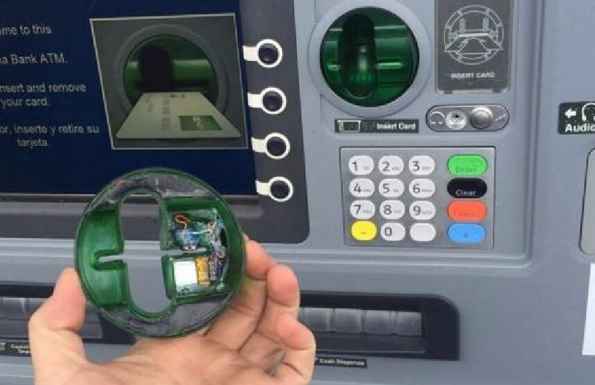 Be careful when using an ATM