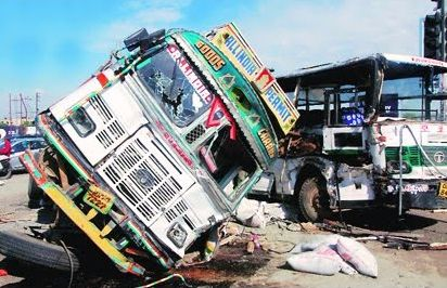 Bus and Lorry Accident