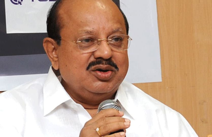T.B. Jayachandra after cabinet meeting